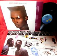 GRACE JONES Living my life LP 1982 AUSTRALIA MINT Original Inner + Poster