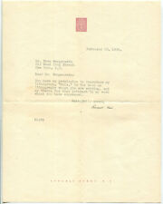 1936 Rockwell Kent Writes to Sten Wengenroth about Reproducing a Kent Lithograph