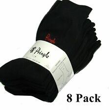 Pringle Trouser Socks 8 Pairs Fits Size 7,8,9,10 & 11. All Black New Mens