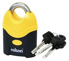 70MM Security Padlock Heavy Duty High Quality Large with Shrouded Shackle ROLSON