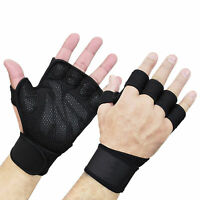 Unisex Half Finger Work Out Gym Gloves Sport Weight Lifting Exercise Fitness Rel