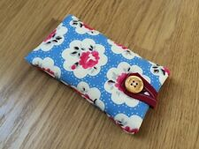 iPhone 5 5S 5C SE Fabric Padded Case - Cath Kidston Electric Blue Provence
