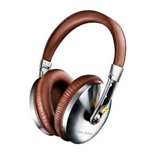 NEW TED BAKER ROCKALL HIGH-PERFOMANCE FOLDING OVER-EAR HEADPHONES - BROWN/SILVER