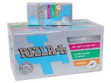 Box Rizla Carbon Smooth Ultra Slim 5,7mm Filter Tips (20pcs)