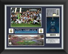 CHAMPIONS LEAGUE FINALE 2014 BIGLIETTO Display Frame REAL MADRID V Atletico Madrid