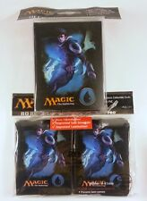 80 Ultra Pro Sleeves + deckbox Set-Mana 4 Blue Jace