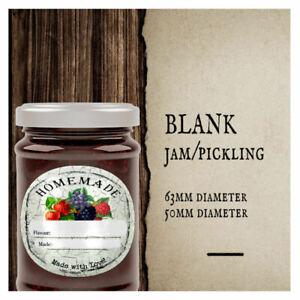 Blank JAM PICKLING POT LID JAR LABELS HOMEMADE PRESERVES CONSERVE JAMS