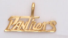 Pitt Panthers Team Name Necklace Pendant  24k Gold Plated Charm Fan Jewelry