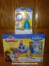 Play Doh DISNEY PRINCESS Frozen Elsa & Anna Olaf Sled Adventure Dolls Sleigh Set