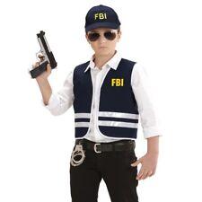 2 tlg FBI AGENT Kinder Kostüm - Weste mit Cap - Gr. 140 für 8 - 10 Jahre
