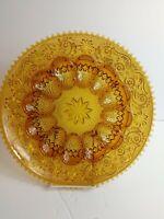 "Vintage Indiana Amber Tiara Glass Relish and  Deviled Egg Platter 12"""