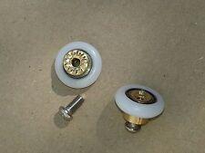 2 x Replacement Top or Bottom Shower Door Roller/Wheels 19mm Diameter (500+Sold)