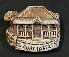 SWAGMAN POTTERY AUSTRALIA, COTTAGE   FRIDGE MAGNET, chipped