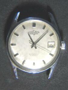 Vintage VULCAIN Automatic 17 Jewels Date Men's WRISTWATCH - TBR