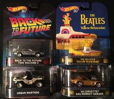 HOT WHEELS 2018 RETRO ENTERTAINMENT ( SET OF 4 ) BEATLES '68 CORVETTE FUTURE