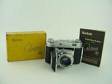 KODAK RETINA II Rangefinder CAMERA w/ 47mm f/2 EKTAR LENS - Clean & Boxed