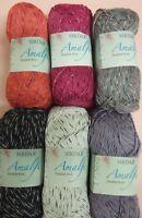 10 x 50g Balls of Sirdar Amalfi Double Knitting Wool/Yarn for Knitting/Crochet
