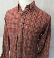 Brooks Brothers 346 Original Polo L/S Button Down Plaid Flannel Shirt Mens M