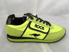 Kangaroo Shoes Tai Chi Retro Neon Green  Velcro Zip Pocket Womens Sz 9