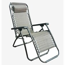 [Set of 2] Adjustable Zero Gravity Lounge Chair Recliners with Head Rest - Steel