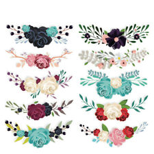 10pc Flowers Iron on Heat Transfer Patches for Kids Clothing DIY Stripe Applique