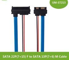 SATA 5V Cable Serial ATA 22 Pin 7+15 Female To Slimline SATA 13 Pin 7+6 Male