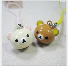 New Lot 10 pcs cartoon lovely Lucky bears head Bell Cell Phone Charm Strap