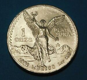 1982 Mexico Silver 1 Onza  -  1 oz Ag 0.999