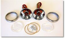 1940-1948 Dodge Plymouth Truck Cowl Light Turn Signal Kit 12V w Rims and Lenses