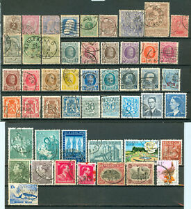 Belgium -  50 stamps - VF used