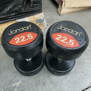 Jordan Fitness Classic Rubber Dumbbells - Sold In Pairs CLEARANCE