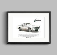 VOLVO p1800 coupé art poster format a3