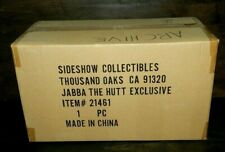 "SIDESHOW EXCLUSIVE STAR WARS JABBA THE HUTT SEALED SHIPPER 12"" DETAILED PAINT"