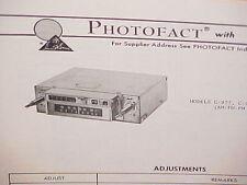 1974 AUDIOVOX 8-TRACK TAPE PLAYER/AM-FM/FM MPLX RADIO SERVICE MANUAL C-977 C-979