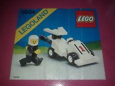 LEGO legoland # 6604, Voiture De Course, Notice uniquement /Instructions only
