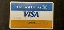 The First Bank Visa credit card exp 1982♡Free Shipping♡cc585