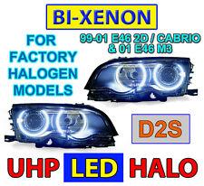 4 HALOGEN MODEL DEPO 2001 BMW E46 M3 2D/CABRIO LED ANGEL Bi-XENON D2S HEADLIGHTS