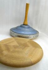 Triuso Curling Eisstock Sport Spiel Eisstockschiessen vintage Deko + Ersatz-Holz