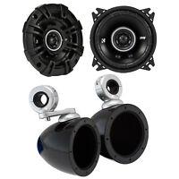 """Kicker 4"""" 120 Watt Speakers with Kicker Mini Tower Wakeboard Enclosure - Pair"""