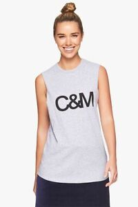 CAMILLA AND MARC C&M classic muscle grey tank - size S