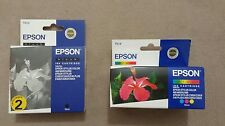 Encre Original Epson TO14 Tri-Colour et TO13 Black inkjet cartridges
