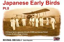 Rising Decals 1/72 JAPANESE EARLY BIRDS Aircraft of the Interwar Period Part 2