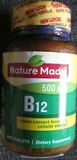 Nature Made Vitamin B12 500mcg 200 Tablets Exp 06/2023 New Sealed Fresh Product