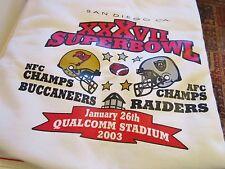 Raiders Super Bowl XXXVII Men's XL 46-48 White LS Sweatshirt $75 EUC
