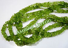 10 strands Natural Peridot Beads Heishi Cut , 3-4mm Size , Length 14-15 inches