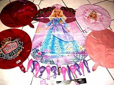 Big Barbie Doll Mylar Balloons Purple Pink Latex Party Package Plus FREE BONUSES