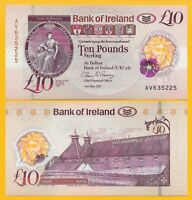 Northern Ireland 10 Pounds p-new 2017(2019) Bank of Ireland UNC Polymer Banknote