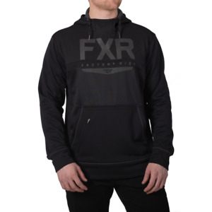 FXR Men's HELIUM Tech Pullover Black Ops HOODIE Sweatshirt - Size XL - NEW
