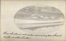 Pleasure Boat Power Boat Skipalong c1910 Amateur Real Photo Postcard