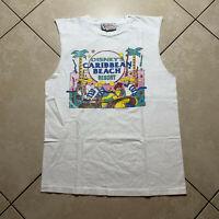 Vintage 80s Disney Fashions Caribbean Beach Resort T-Shirt Large VTG USA Epcot